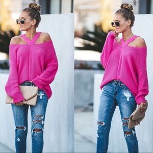 Vici Neon Pink Sweater